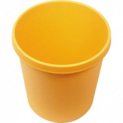 HELIT grande corbeille à papier, 30 litres, PE, jaune