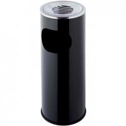 HELIT cendrier poubelle métal rond diam 340 mm hauteur 490mm Noir