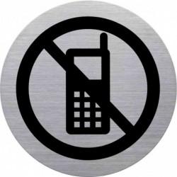 """HELIT Pictogramme """"portable interdit"""", diamètre: 115 mm"""