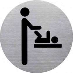 """HELIT Pictogramme """"espace change bébé"""", diamètre: 115 mm"""