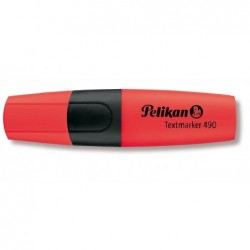 PELIKAN Surligneur Textmarker 490 Pte biseautée 1 - 5 mm Rouge fluo