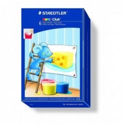 STAEDTLER étui de 6 flacon 100 ml peinture au doigt Noris Club MALI