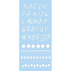 "MARABU pochoir á écriture ""Alphabet 2"", 150 x 330 mm"