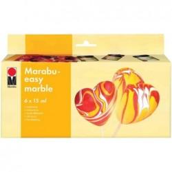 "MARABU Peinture ""Easy Marble""  Kit de 6 x 15 ml Assorties"