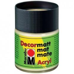 "MARABU Peinture acrylique ""Decormatt"", vert jaunâtre, 50 ml,"
