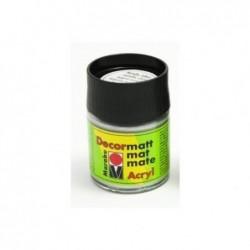 "MARABU Flacon de 50 ml Peinture acrylique ""Decormatt"" Argent métallique"