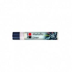 "MARABU Peinture métallique ""Metallic-Liner"" 25ml Blanc"