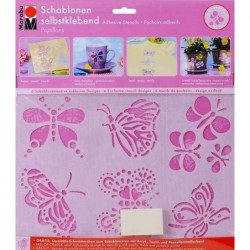 "MARABU Set de pochoirs à motifs ""Papillons"" A5 Autoadhésif"