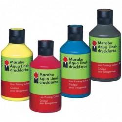 MARABU Flacon 250 ml Peinture Linogravure Aqua Rouge
