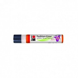 "MARABU Peinture textile ""Fashion-Liner"" Orange rouge, 25 ml"