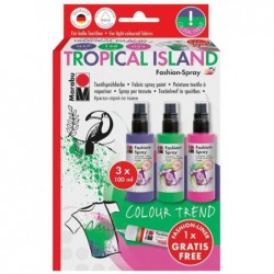 "MARABU Kit Peinture Textile Spray ""fashion-spray"" Tropical Island"