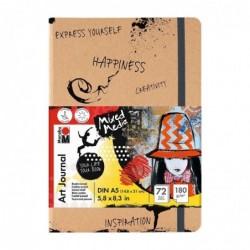 """MARABU Carnet de notes """"Art Journal""""  A5 180 g 72 feuilles"""