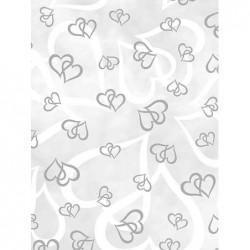 """HEYDA 25 x papier transparent """"Emotion"""", A4, coeurs argentés"""
