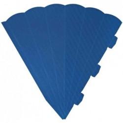 HEYDA Cornets surprise découpés, 6 cotés, 69 cm, bleu moyen