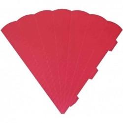 HEYDA Cornets surprise découpés, 6 cotés, 69 cm, rouge