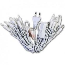 HEYDA Guirlande lumineuse intérieure 10 lampes avec interrupteur Blanc