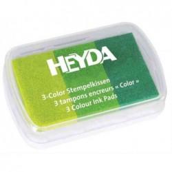 HEYDA Coffret de 3 tampons encreurs limon / vert clair / vert foncé