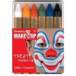 "KREUL Kit crayon de maquillage ""Fantasy Make Up"" 6 couleurs"