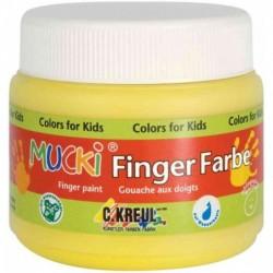 """KREUL Gouache aux doigts """"MUCKI"""", jaune, 150 ml, à base"""