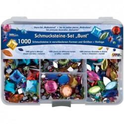 """KREUL Set de pierres décoratifs Hobby Line """"Multicolore""""1000 pierres décoratives"""