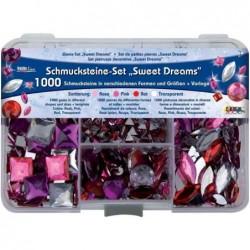 """KREUL Set de pierres décoratives Hobby Line """"Sweet Dreams""""1000 pierres décoratives"""
