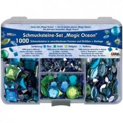 """KREUL Set de pierres décoratives Hobby Line """"Magic Ocean""""1000 pierres décoratives"""