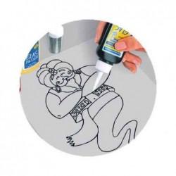 """KREUL Peinture de contours HobbyLine""""Glas Design"""",incolore"""