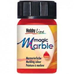 "KREUL Peinture à marbrer ""Magic Marble"", magenta, 20 ml"