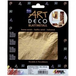 KREUL Feuilles de métal Home Design ART DECO, or