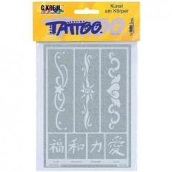 """KREUL pochoir pour tatouage Hobby Line """"bandes 2"""""""