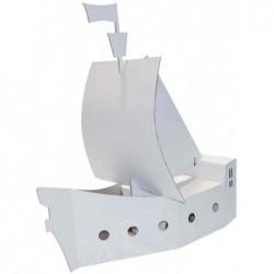 KREUL Bateau pirates JOYPAC, carton ondulé à décorer