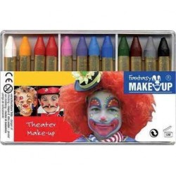"KREUL kit crayons de maquillage ""Fantasy Theater Make Up, 12 couleurs"