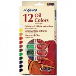 KREUL Peinture à l'huile el Greco, 12 ml, set de 12