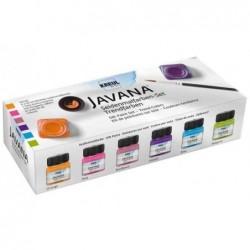 KREUL Kit 6x20 ml Peinture pour soie JAVANA Trend colors