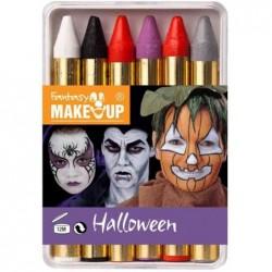 KREUL Etui de 6 minis crayon de maquillage Halloween Fantasy Make-up