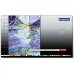 STAEDTLER étui métal de 60 crayons aquarellables karat aquarelle