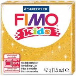 FIMO Kids Pâte à modeler durcissante au four 42g Or pailleté