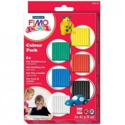 FIMO kids Kit pâte à modeler Colour Pack BASIC set de 6 x 42g