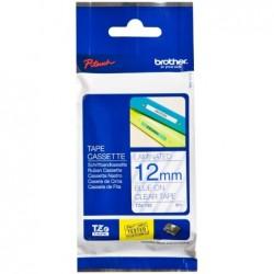 BROTHER cassette à ruban TZe-Tape TZe-133 Largeur: 12 mm Bleu/Transparent