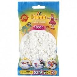 HAMA Sachet de 1000 Perles à repasser midi 5 mm Blanc