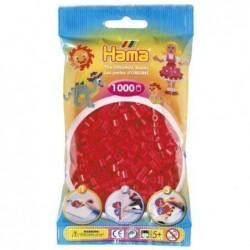 HAMA Sachet de 1000 Perles à repasser midi 5 mm Rouge