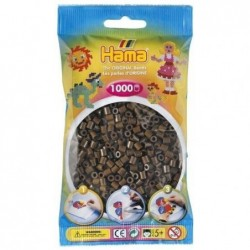 HAMA Sachet de 1000 Perles à repasser midi 5 mm Marron