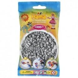 HAMA Sachet de 1000 Perles à repasser midi 5 mm Gris