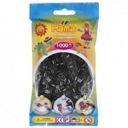 HAMA Sachet de 1000 Perles à repasser midi 5 mm Noir