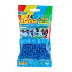 HAMA Sachet de 1000 perles à repasser Midi Diam 5mm Coloris Bleu