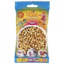 HAMA Sachet de 1000 perles à repasser Midi Diam 5mm Coloris Or