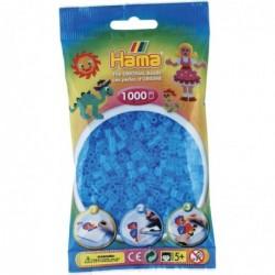 HAMA Sachet de 1000 Perles à repasser Midi 5 mm Bleu Transparent