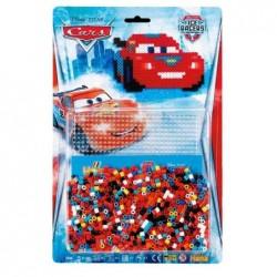 HAMA Blister de 1100 Perles à repasser Midi 5 mm Plaque Motif CARS