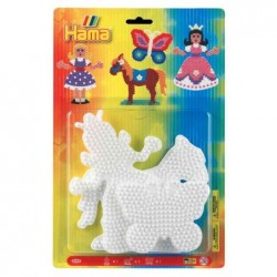 HAMA Plaques pour perles à repasser hama midi : princesse/cheval/papillon hama