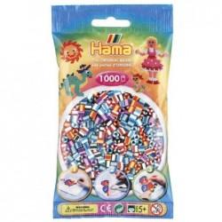 "HAMA sachet de 1000 perles à repasser midi ""perles à rayures Mix 90"""